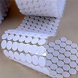 Yulakes 250 Paar Klettverschluss Klettpunkte selbstklebend und Flauschband Klettband PunkteBänder 15mm Klettverschluss Rund Rücken 500 stück