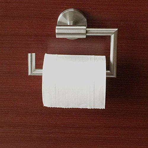 Nessuna copertura piastra di servizi igienici vassoio bagno hardware titolare di carta igienica a sospensione, in acciaio inox