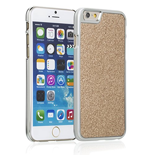 """Fosmon Apple iPhone 6 Case (GLITTER) BLING Design Protective Back Snap on Case Cover für iPhone 6 (4.7"""") - Fosmon Retail Packaging (Rosa) Gold"""