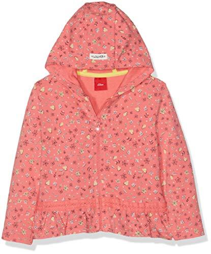 s.Oliver Baby-Mädchen 65.902.43.3332 Sweatjacke, Rot (Pink AOP 33a3), Herstellergröße: 80 - Kapuzen Baby Mädchen Jacke