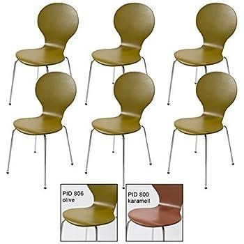 6 st ck design klassiker stuhl st hle stockholm stapelbar for Holzstuhl bunt