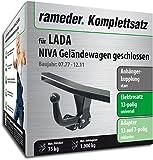 Rameder Komplettsatz, Anhängerkupplung starr + 13pol Elektrik für Lada NIVA Geländewagen geschlossen (153105-00131-3)