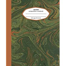 Unruled Composition Notebook: Green Marble Blank Composition Notebook, Unruled (Marble Unruled Blank Composition Notebook)