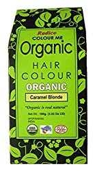 RADICO-ACE-100 %ORGANIC HAIR COLOUR - CARAMEL BLONDE COLOUR-MADE WITH HERBS-USDA ORGANIC CERTIFIED (NO AMMONIA,NO PEROXIDE,NO PPD)