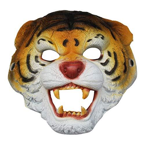 Halloween Make-up Ball Tier Party führt Wolf Maske Bar Horror Maske cos AFFE Tiger Maske (Tiger-augen Make-up Halloween)