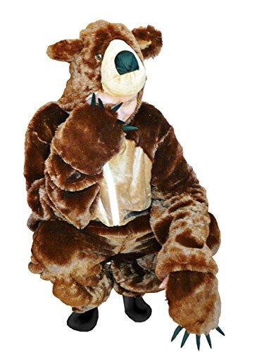 PUS Braun-Bär Kostüm-e, F67 Gr. M Kat. 2, Achtung: B-Ware Artikel, Bitte Artikelmerkmale lesen! Frau-en und Männer Tier-e Fasnacht-s Fasching-s Karneval-s Geburtstag-s Geschenk-e