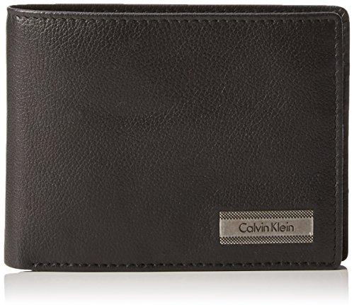 Calvin Klein JeansCOBLANE 5CC+COIN - Portafogli Uomo , Nero (Schwarz (BLACK 001 001)), 12x9x2 cm (B x H x T)