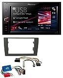 Pioneer MVH-AV180 AUX MP3 USB 2DIN Autoradio für Audi A4 B6 B7 01-08 Aktivsystem Mini-ISO
