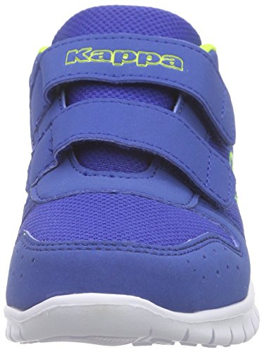 Kappa Note K, Baskets Basses Mixte Enfant Bleu (Blue/lime)