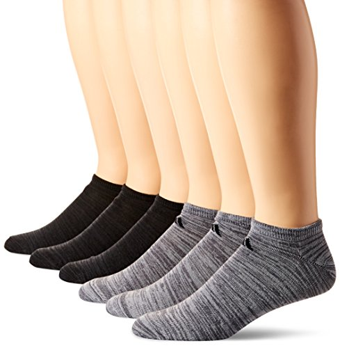adidas Herren Superlite No Show Socken (6Pack), Herren, Onix Clear Onix Space/Black Night Grey Space/Black - Cushioned No-show-sport-socken