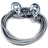 Motoway Car Auto Full Steel Towing Tow Cable Rope Heavy Duty Ton 4 Mtr