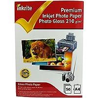 Papel de fotos satinado PhotoPlus, de la marca Inkrite, de calidad profesional, tamaño A4, 50 unidades
