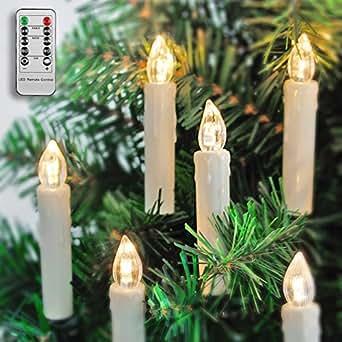 20 led kerzen f r au en innen f r weihnachtsbaum mit fernbedienung und timer ip64. Black Bedroom Furniture Sets. Home Design Ideas