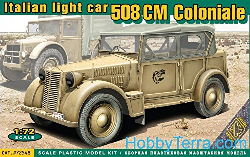 Ace authentic ace 72548 - modellino da costruire, veicolo militare leggero italiano 508 cm coloniale
