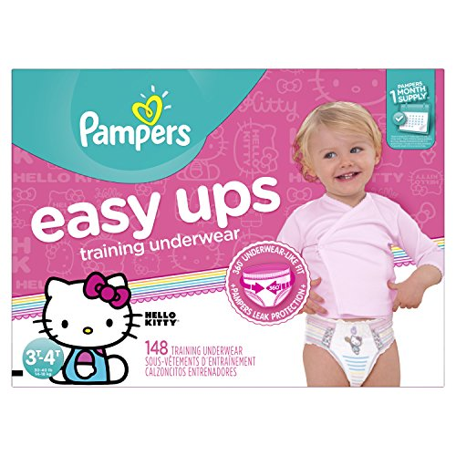 Pampers Girls Easy Ups Training Underwear, Size 5, 148 Count