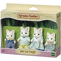 Sylvanian Families Silk Cat Family Mini muñecas y Accesorios, (Epoch 4175)