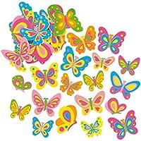 Pegatinas de Espuma con Forma de Mariposa para Artesanía Perfectas para Decorar Tarjetas Álbumes Collages y Otras Manualidades de Niños (Pack de 12)