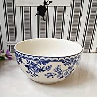 Underglaze vajilla de porcelana azul y blanco tazón tazón de postre,un tazón de arroz de 4,5 pulgadas