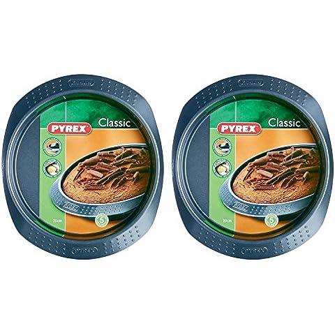 Pyrex Classico Tortiera Set, 20cm, 2 Confezione