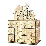 Apilable Calendario de Adviento de madera con cajones Caja de almacenamiento de adornos navideños Caja de almacenamiento de Navidad Decoración Misceláneas Caja de almacenamiento Caja de joyas for Navi