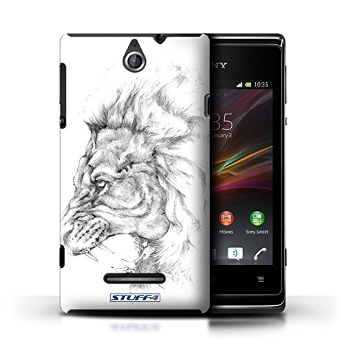Kobalt® Imprimé Etui / Coque pour Sony Xperia E / Lion conception / Série Dessin Croquis Lion