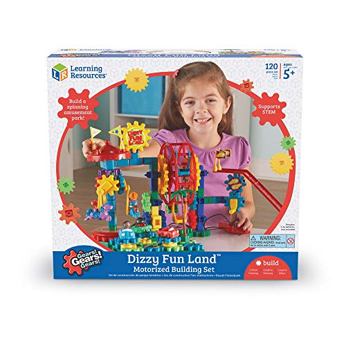 Learning Resources Gears! Gears! Gears! Dizzy Fun Land Motorisiertes Bauset,