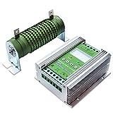 Tellunow 1000W Wind Solar Hybrid Laderegler Off Grid MPPT Wind Turbine Solar Charge Controller Hybrid Controller 600 W Wind und 400 W Solar Panel 12 V/24 V Auto unterscheiden (1000W)