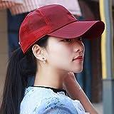 SAIBANGZI Hat Femme Souffle Automne Cap Outdoor Baseball Cap Soleil Location Casque Casque Chapeau De Soleil Rouge...