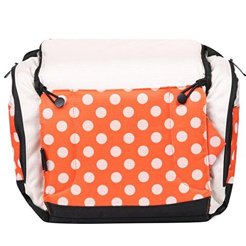 Preisvergleich Produktbild Eshow Polyster Wickeltasche Mummy Bag Mama Tasche Baby Handtasche Umhängetasche Multifunktional, Orange