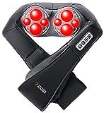 VIKTORJURGEN ShiatsuMassageNeck/ Foot/ Shoulder/ BackMassagerAdjustable Intensity+ Infrared Heating+ 3D Rotating Massager+ Suitable for Multi Voltage and Car+ 3 Year Warranty