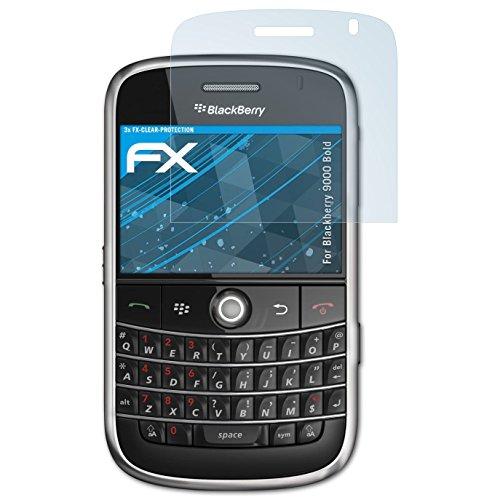 atFolix Schutzfolie kompatibel mit BlackBerry 9000 Bold Folie, ultraklare FX Displayschutzfolie (3X) Blackberry Bold Screen Protector