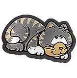 Felpudo de goma antideslizante con diseño de gato, 40x 70cm, absorbente, para uso interior y exterior, alfombrilla a medida, modelo «FORMAT 29»