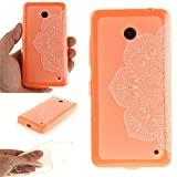 Nutbro Nokia Lumia 635 N635 Case, Nokia Lumia 630 N630 Case Crystal Clear Slim fit Full Coverage 360 degree Shockproof TPU Rubber Gel Back Transparent Protective Cover Case