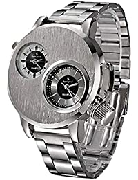 Reloj de Cuarzo para Hombre, Reloj de Negocios Casual analógico único Relojes de diseño de