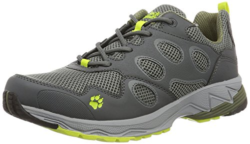 Jack Wolfskin Herren Venture Fly Low M Traillaufschuhe, Grau (Flashing Green), 45.5 EU