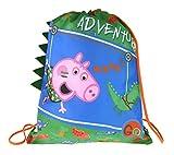 Lora Dora Peppa Pig George Pig Boys 3D coulisse palestra borsa Green Taglia Unica