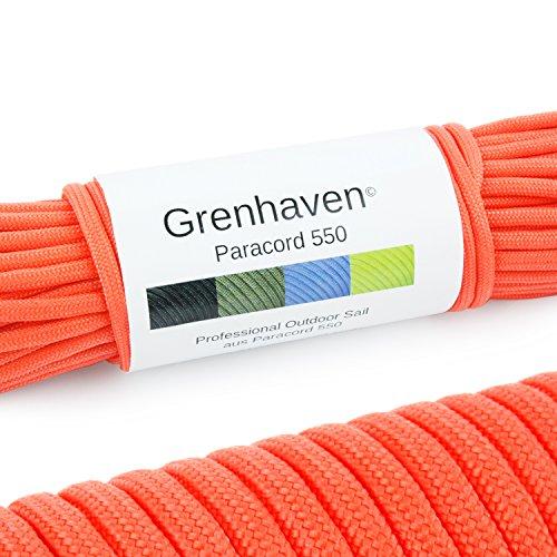"""Grenhaven Paracord Seil Rot Fallschirmschnur Universell einsetzbares Survival-Seil mit 7 Strängen 30m 550lbs 100ft aus reißfestem Parachute Cord"""" Achtung!!! Nicht Zum Klettern Geeignet"""