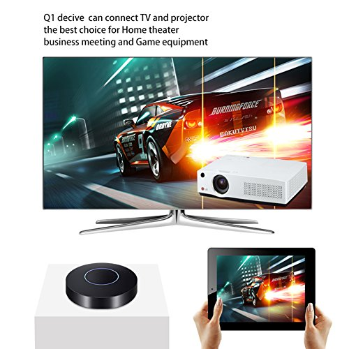 WIFI Display Dongle HIMM Wireless Screen Mirroring Adapter Mini HDMI 1080P Full HD   AV Dual Output Display Receiver Support Airplay DLNA Miracast for iPhone   IOS  Android Mac  Q1