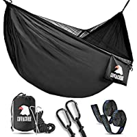 covacure Camping Hammock with Mosquito Net - 2 Person Outdoor Travel Hammock for Camping Hiking Backpacking - 772 LBS Capacity Upgrade Version