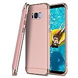 CoolGadget Samsung Galaxy S7 Edge Hülle, 3-Teilige Extra Dünn Hart Slim Thin Hard Case Cover Stylich Hochwertig Schutzhülle Schale Handy Hülle für Galaxy S7 Edge, Rosegold