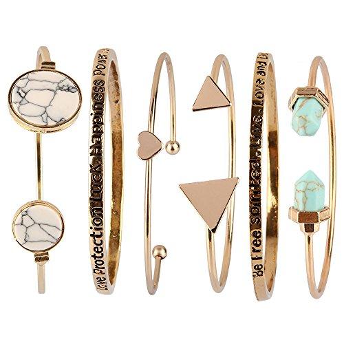 Beauty7 Kits de Pulsera Bohemia Bohemo Boho Bracelet de Estilo Éthnic Playa Manual para Mujeres