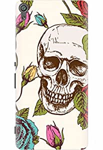 Noise Designer Printed Case / Cover for Sony Xperia XA Dual / Patterns & Ethnic / Skull With Roses Design