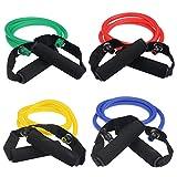 BlueBeach Tipo di banda D resistenza Fitness - palestra Yoga muscolare allenamento esercizio attrezzature elastico formazione tubo corda cavo moda elasticizzato corpo utensile (colori casuali) - BlueBeach - amazon.it