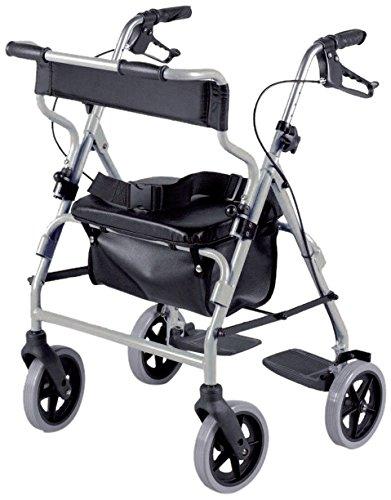 Ability Superstore Andador y silla de ruedas 2 en 1