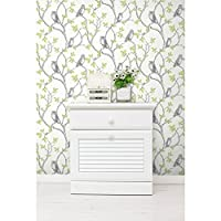 Fine Decor Wallpaper Woodland Owls Green FD40637 by Fine Decor by Arthouse Wallcoverings