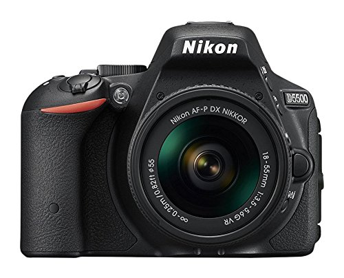Nikon D5500 Digital SLR Camera (24.2 MP, AF-P 18-55VR Lens Kit, 3 inch LCD Screen) – Black