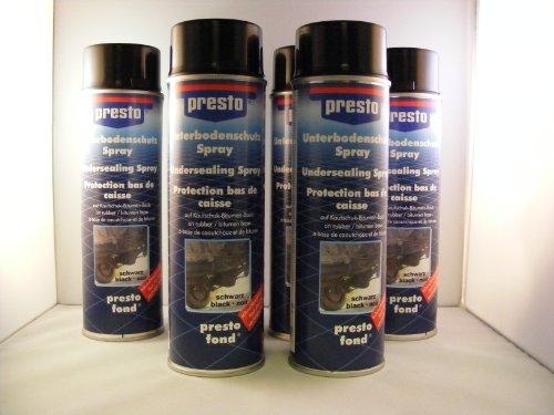Presto Unterbodenschutz schwarz 6x 500 ml Spray
