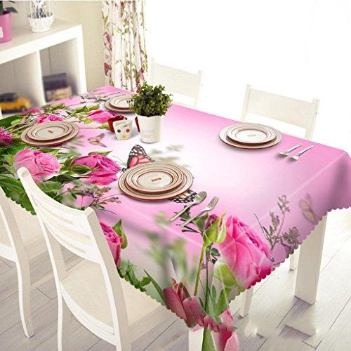 Preisvergleich Produktbild Schmetterlingsblume, Digitaldruck, Teemaschine Tuch, personalisierte staubdichte 3D Tischdecke, Umwelt geschmacklos , #1 , 180*280cm