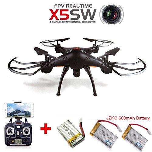 JZK® Syma X5SW Drone RTF WiFi FPV HD cámara, con 3 baterías,...