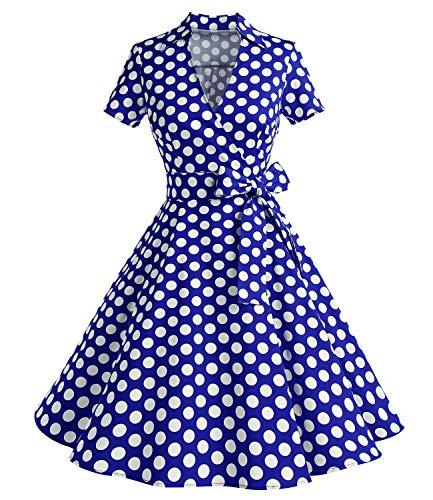 Timor Mode - Vestido de Manga Corta para Mujer de los años 50,...